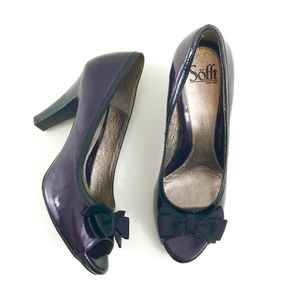 Sofft Shoes - Like New Sofft Patent Leather Peep Toe Bow Pumps
